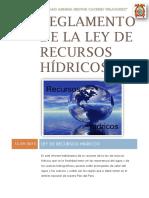 Reglamento de La Ley de Recursos Hídricos