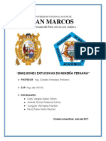Emulsiones Explosivas en Minería Peruana