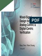 3 Mixed-Signal Design for Analog-Centric Digital-Centric Verification