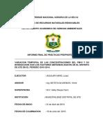 Evolucion Temporal de Las Concentraciones Del Pm10 y Su Interaccion Con Los Factores Metereologicos en El Distrito de Ate en El Periodo 2010-2014