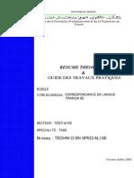 Communication Correspondance en Langue Française