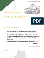 HS - DesignPF International - School of Design - Admission en 2016