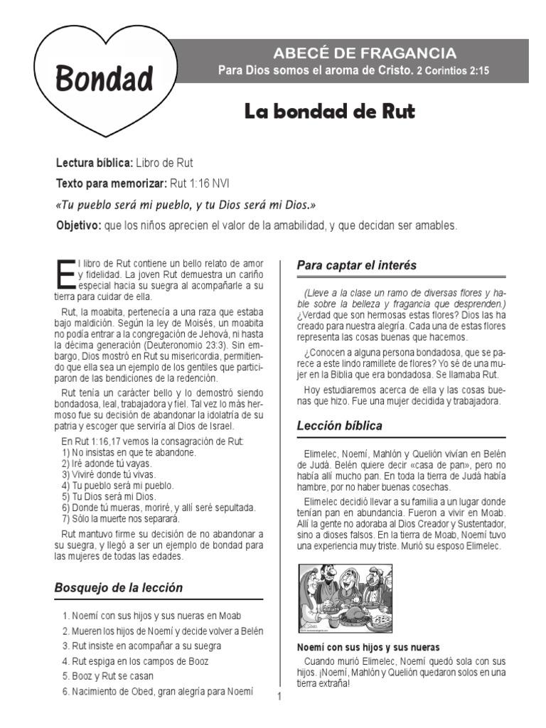 Contemporáneo La Página De Ruth And Naomi Para Colorear Molde ...