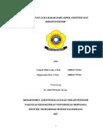 Referat - Penangganan Luka Bakar Dari Aspek Anesthesia Dan Terapi Intesif, FIX 1