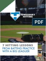 7 Hitting Lessons Tewksbary Hitting