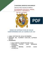 Veda de Extraccion Agua Subterranea de La Cuenca de Ica Final