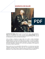 Biografia de Euler Tarea de Ecuas