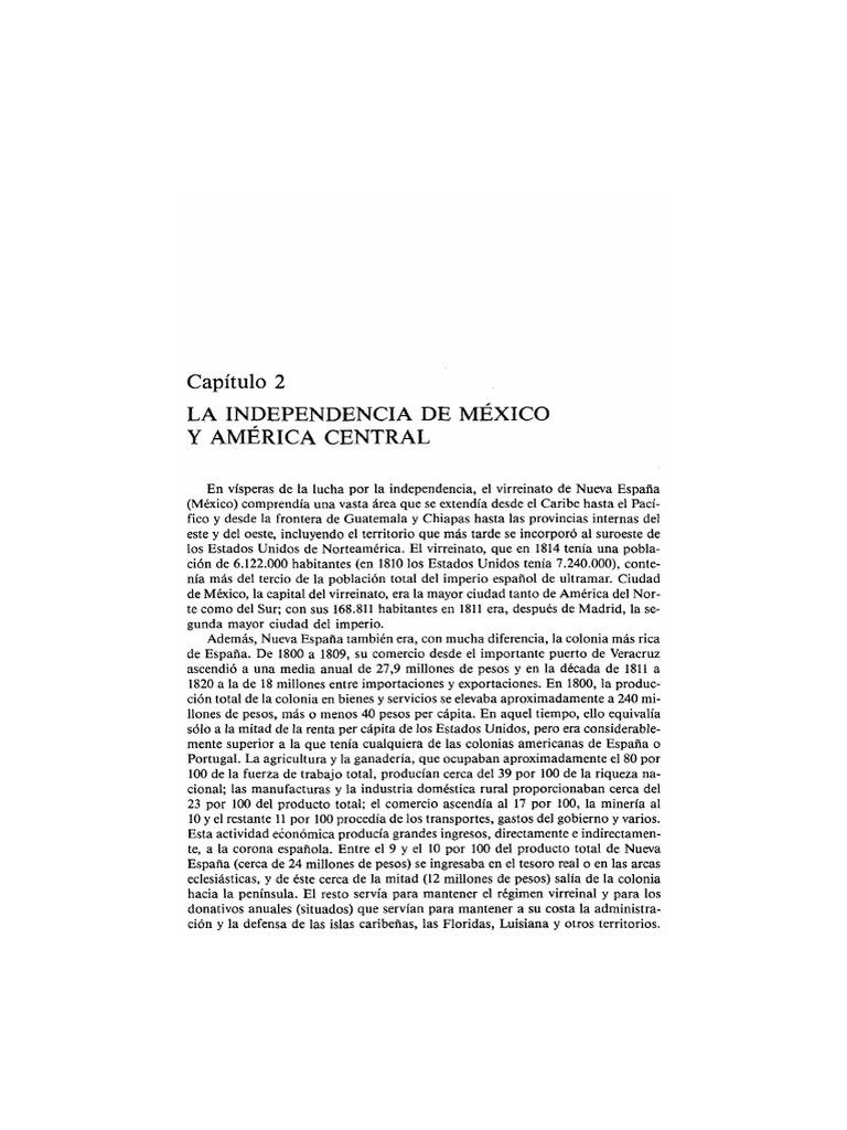 Timothy Anna - La Independencia de México y América Central (9 Hojas)