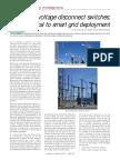 Ehv Disconnectors for Smart Grid
