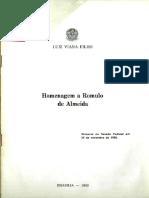 Homenagem a Romulo de Almeida