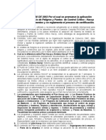 Resumen Del Decreto 60 de 2002 HACCP