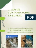 CASOS DE CONTAMINACION EN EL PERU