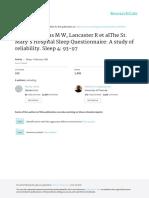The St. Mary's Hospital Sleep Questionnaire