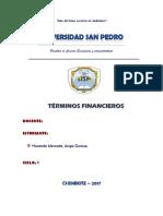 TÉRMINOS FINANCIEROS