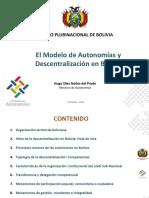 1.Modelo de Autonomia y Descentralizacion Boliviano