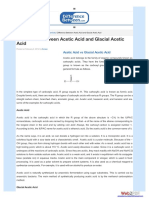 Difference Between Acetic Acid and Glacial Acetic Acid