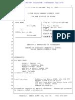 Transcript Exhibt a to Lesnar's MTD