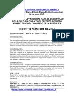 DECRETO 10-2017. Guatemala