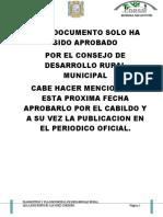 Plan de Desarrollo Rural 2010