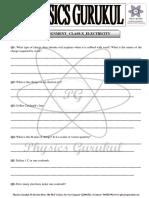 Electricity Worksheet_Class- X