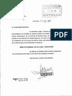 Pliego completo de Gabriel Sánchez Zinny - Director de Cultura y Educación de Buenos Aires