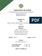 Informe Nº 1 - Identificación, Descripción y Contenido de Agua de Suelos