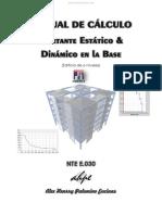 Manual de Cálculo Cortante Estático y Dinámico en La Base - Alex Palomino