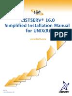 LISTSERV16.0 InstallManual UNIXSimplified
