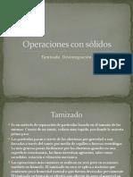 Operaciones Con Sólidos