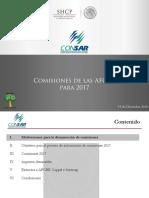 Presenta Comisiones 2017
