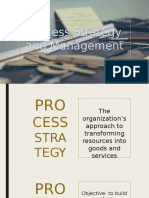 Process Strategy and Management