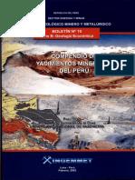 Boletin Nº 010- Compendio de Yacimientos Minerales Del Perú, 2003