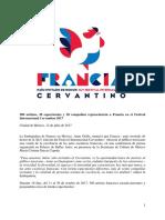 Francia en el Cervantino 2017
