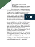 Origen y Evolucion de La Lengua Española