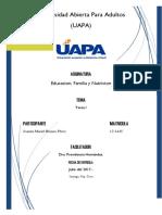 Educacion, Familia y Nutricion Tarea1
