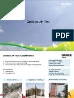 Outdoor AP Test