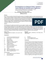 Determinación Del Desbalanceen Sistemas Rotor-cojinete a Velocidad Constante - Método de Identificación Algebráica
