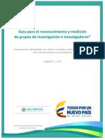 Guia Reconocimiento y Medicion de Grupos e Investigadores