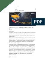 A Detailed Syllabus of RBI Grade B Exam 2016 - 17 Exam