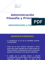 01 - Administración - Filosofía y Principios