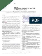 ASTM D6683-03 - Standard Test Method for Measung Bulk Density Valures of Powders and Other Bulk Solid