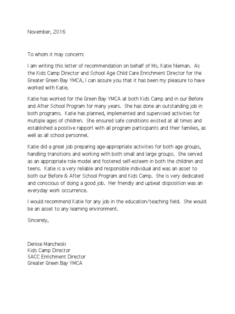 Letter Of Recommendation Child Care from imgv2-1-f.scribdassets.com