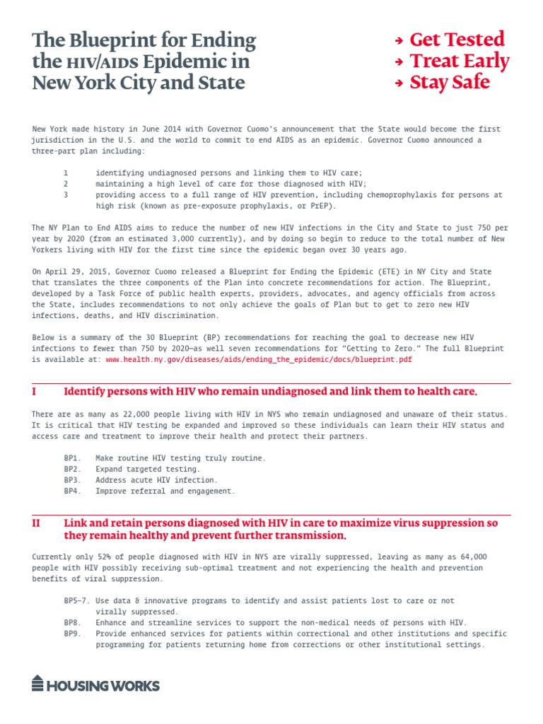 New york state ending the aids epidemic blueprint summary one sheet new york state ending the aids epidemic blueprint summary one sheet hivaids diagnosis of hivaids malvernweather Image collections