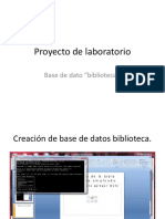 Proyecto Laboratorio Base de Datos