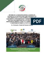 12-07-17 Informe Senadora Marcela Guerra Parlamericas