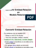 Covertir Modelo E-R a Modelo Relacional