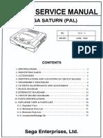 Sega Service Manual - Sega Saturn (PAL) - 013-1 - June 1995