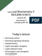 General Biochemistry II