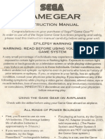 Manual Game Gear - Ingles