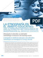La Etnografía en El Ambito Educativo